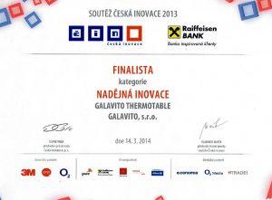 Firma Galavito s.r.o. byla mezi finalisty soutěže Česká inovace