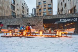 Après-Ski bar u Svatého Vavřince a venkovní elektrické topení