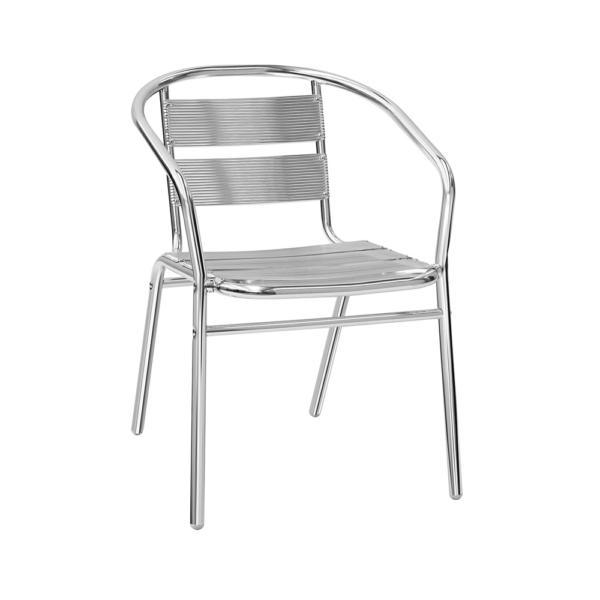 Hliníková venkovní židle s operkami a montovaným rámem