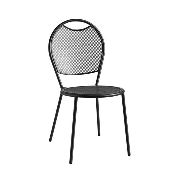 Kovová židle na předzahrádku a terasu