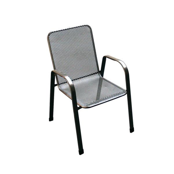 jednoduchá kovová zahradní židle
