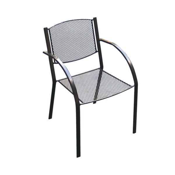zahradní židle z tahokovu